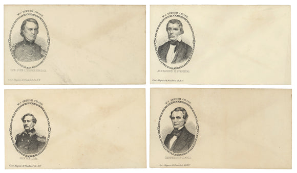 4 Civil War envelopes