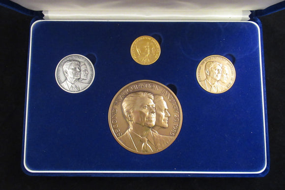 Official 1985 Reagan Inaugural medal set (gold, silver & 2 bronze)