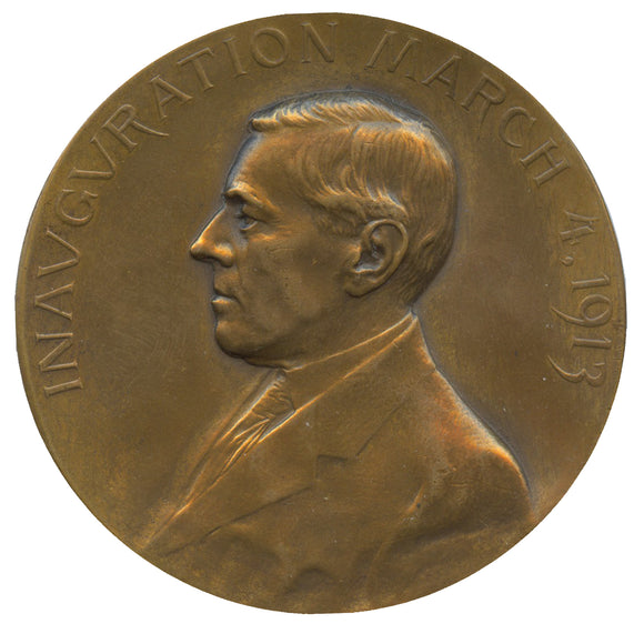 Official Woodrow Wilson 1913 Inaugural medal