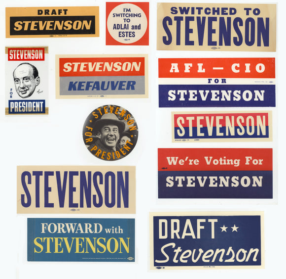12 Stevenson window stickers/decals