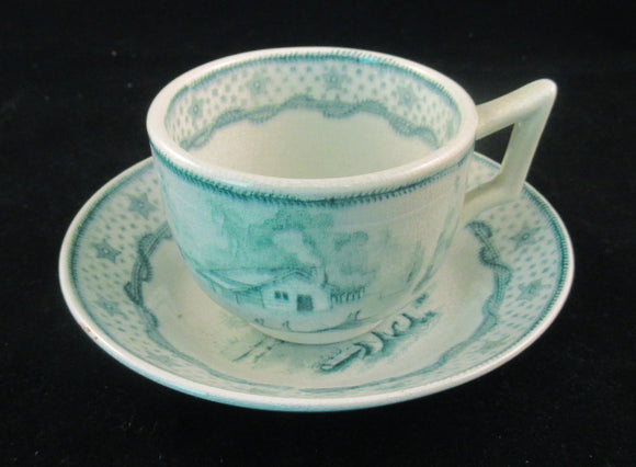William Henry Harrison child's tea cup and saucer