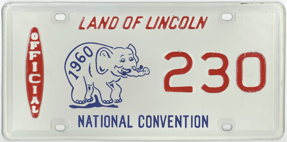 LAND OF LINCOLN  OFFICIAL  1960  NATIONAL CONVENTION