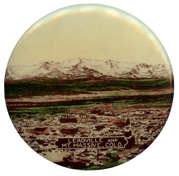 LEADVILLE AND MT. MASSIVE, COLO.  (pocket mirror)