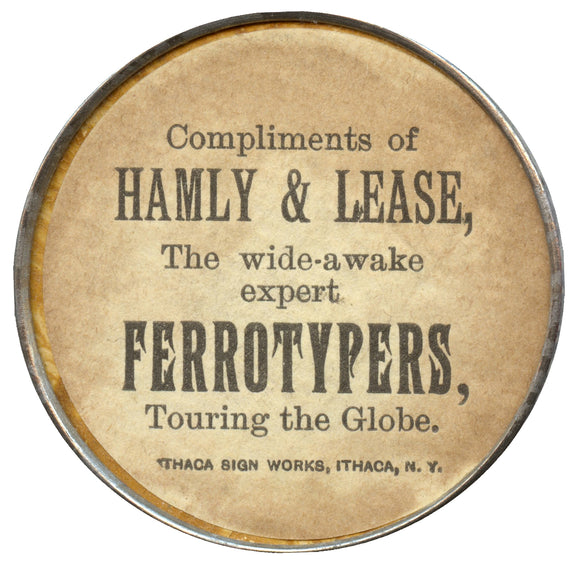 HAMLY & LEASE The wide-awake expert FERROTYPERS  (pocket mirror)