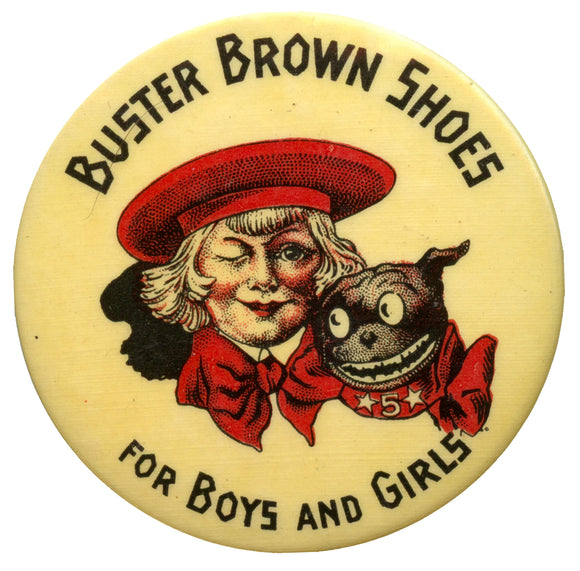 BUSTER BROWN SHOES FOR BOYS AND GIRLS  (pocket mirror)