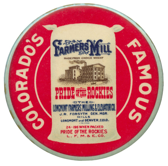 COLORADO'S FAMOUS PRIDE OF THE ROCKIES flour (pocket mirror)