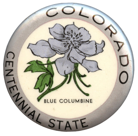 COLORADO  CENTENNIAL STATE  BLUE COLUMBINE