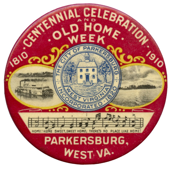 CENTENNIAL CELEBRATION 1810 1910 PARKERSBURG, WEST. VA.