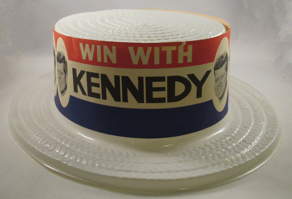 WIN WITH KENNEDY / KENNEDY WILL WIN pair of skimmer hats
