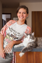 Load image into Gallery viewer, Animals Are Here With Us Short Sleeve T-shirt