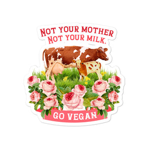 Bubble free sticker for vegan living to brighten the home