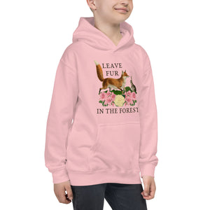 Leave Fur In The Forest Kids Hoodie