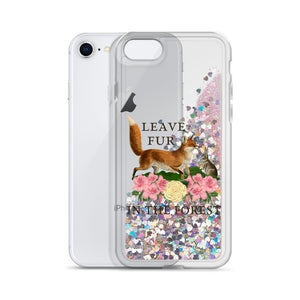 liquid glitter iPhone case for vegan living phone