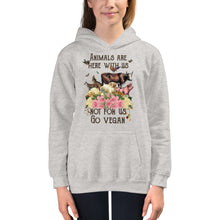 Load image into Gallery viewer, kids/ youth hoodie for vegan living