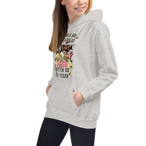 kids/ youth hoodie for vegan living