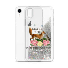 Load image into Gallery viewer, liquid glitter iPhone case for vegan living phone