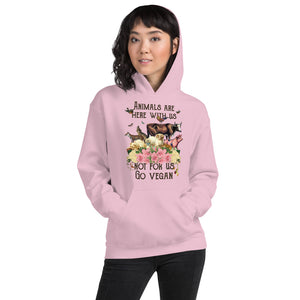hoodie top for compassionate vegan living