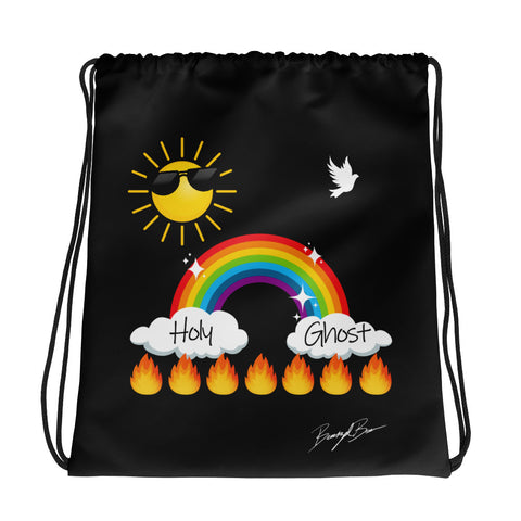 Holy Ghost Drawstring Bag