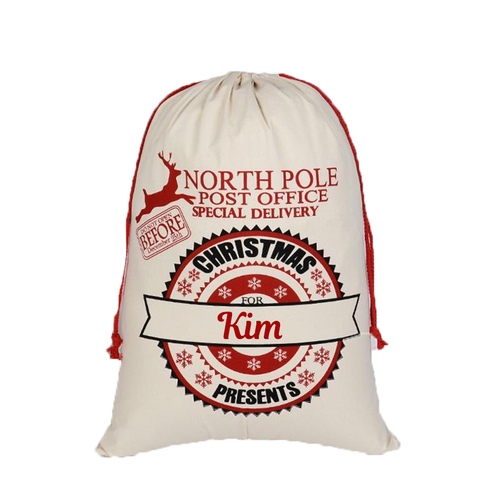 North Pole Post Office Gift Bag