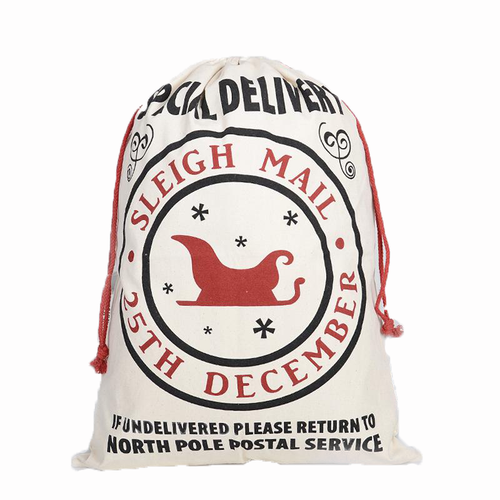 Sleigh Mail Reusable Santa Gift Bag