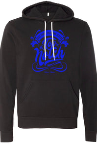 TNC BLACK/BLUE CUT FROM THAT ONE CLOTH HOODIE