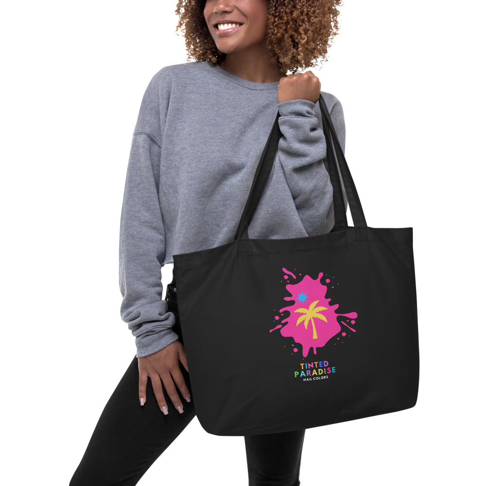 """Pink Punch & Honey"" Tinted Paradise Logo Tote"