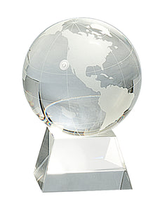Globe Crystal w/ Clear Base