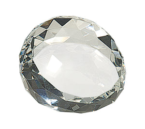 "Round Crystal Facet Paperweight (2 1/2"" x 1 3/4"")"