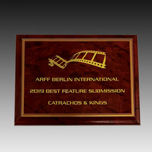 Ruby Marble Finish Wooden Plaque