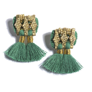 Sadie Earrings in Emerald