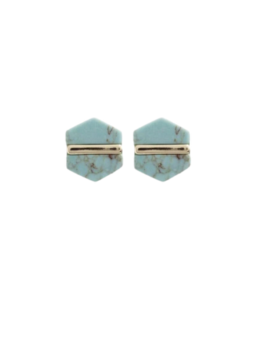 Hex Earrings in Turquoise