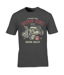 HotRod Rebel – Gildan Premium Cotton T-Shirt - Biker T-Shirts UK