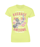 Awesome Motocross – Gildan Ladies Premium Cotton T-Shirt - Biker T-Shirts UK