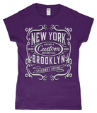 New York Motorcycle – Gildan SoftStyle® Ladies Fitted Ringspun T-Shirt - Biker T-Shirts UK