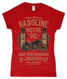 Gasoline Motor Oil – Gildan SoftStyle® Ladies Fitted Ringspun T-Shirt - Biker T-Shirts UK