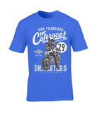 Cafe racer V2 – Gildan Premium Cotton T-Shirt - Biker T-Shirts UK