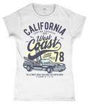 California West Coast – Gildan SoftStyle® Ladies Fitted Ringspun T-Shirt - Biker T-Shirts UK