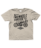 Two Wheels Forever Black – Gildan Kids SoftStyle® Ringspun T-Shirt - Biker T-Shirts UK