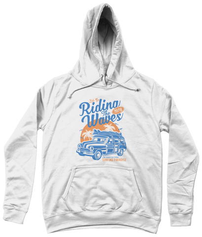 Riding The Waves – AWDis Girlie College Hoodie - Biker T-Shirts UK