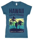 Hawaii Endless Summer – Gildan SoftStyle® Ladies Fitted Ringspun T-Shirt - Biker T-Shirts UK