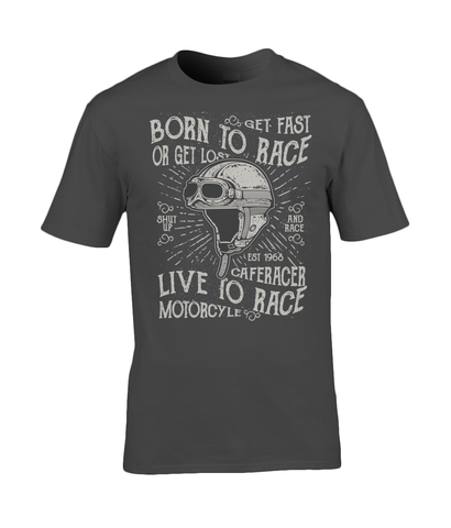 Born To Race – Gildan Premium Cotton T-Shirt - Biker T-Shirts UK