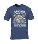 Super Racer – Gildan Premium Cotton T-Shirt - Biker T-Shirts UK