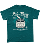 Ride The Waves – Gildan Heavy Cotton T-Shirt - Biker T-Shirts UK