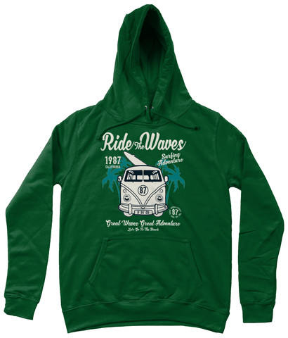 Ride The Waves – AWDis Girlie College Hoodie - Biker T-Shirts UK
