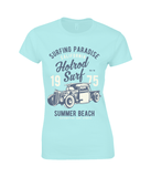 Hotrod Surf – Gildan Ladies Premium Cotton T-Shirt - Biker T-Shirts UK