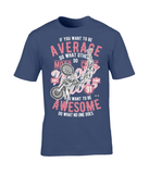 Awesome Motocross – Gildan Premium Cotton T-Shirt - Biker T-Shirts UK
