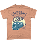 California West Coast v2 – Gildan Heavy Cotton T-Shirt - Biker T-Shirts UK
