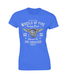 Wheels Of Fire – Gildan Ladies Premium Cotton T-Shirt - Biker T-Shirts UK