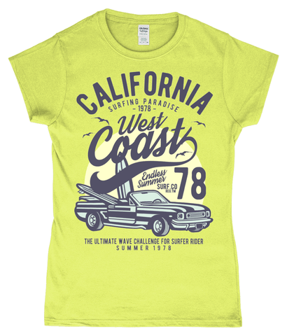 California West Coast – Gildan SoftStyle® Ladies Fitted Ringspun T-Shirt