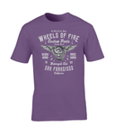 Wheels Of Fire – Gildan Premium Cotton T-Shirt - Biker T-Shirts UK